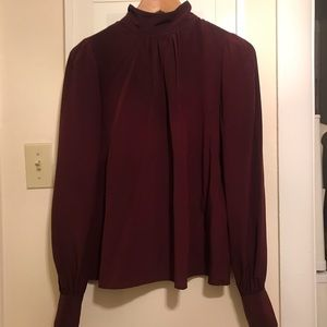 Marc Jacobs Victorian Blouse Size 2 Burgundy Wine